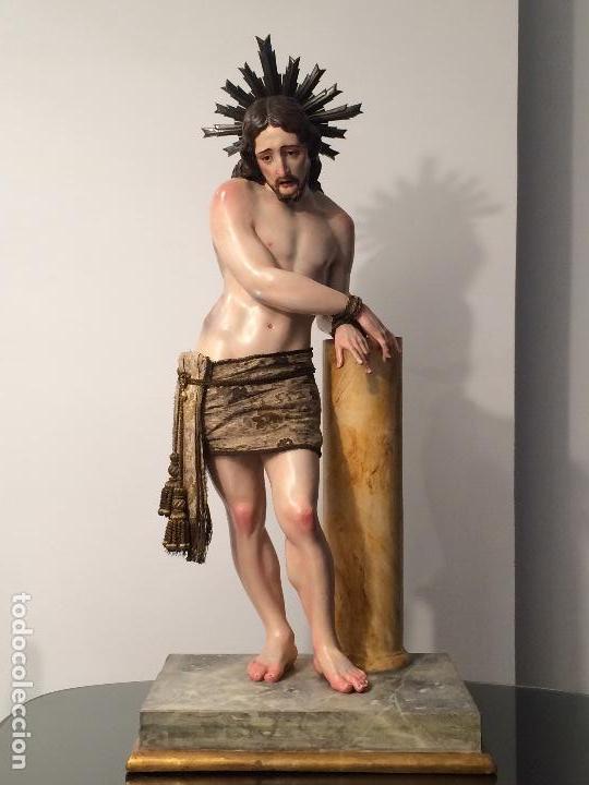 Arte: Cristo. Talla en madera del siglo XIX en urna - Foto 7 - 106009883