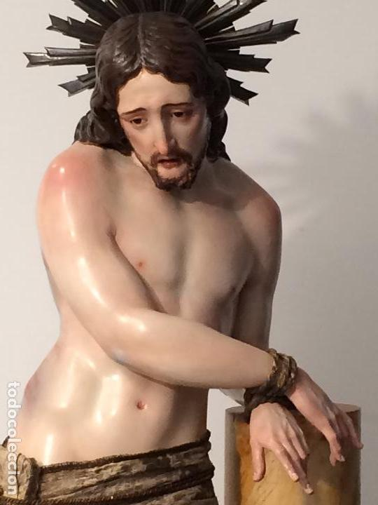 Arte: Cristo. Talla en madera del siglo XIX en urna - Foto 8 - 106009883