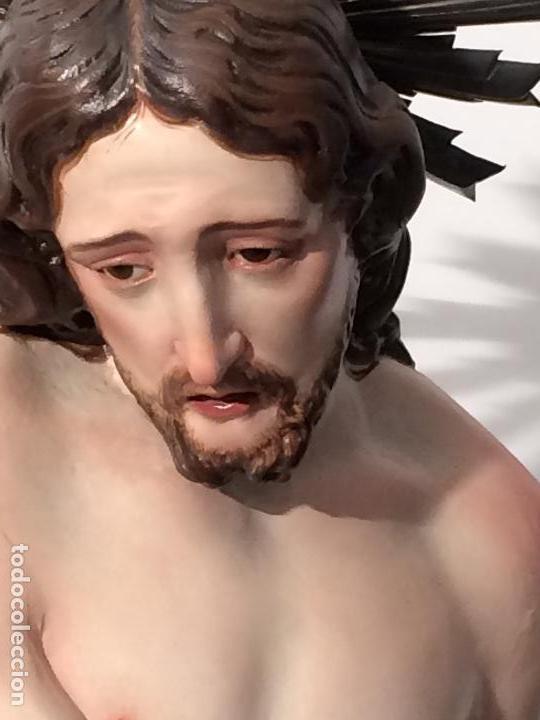 Arte: Cristo. Talla en madera del siglo XIX en urna - Foto 9 - 106009883