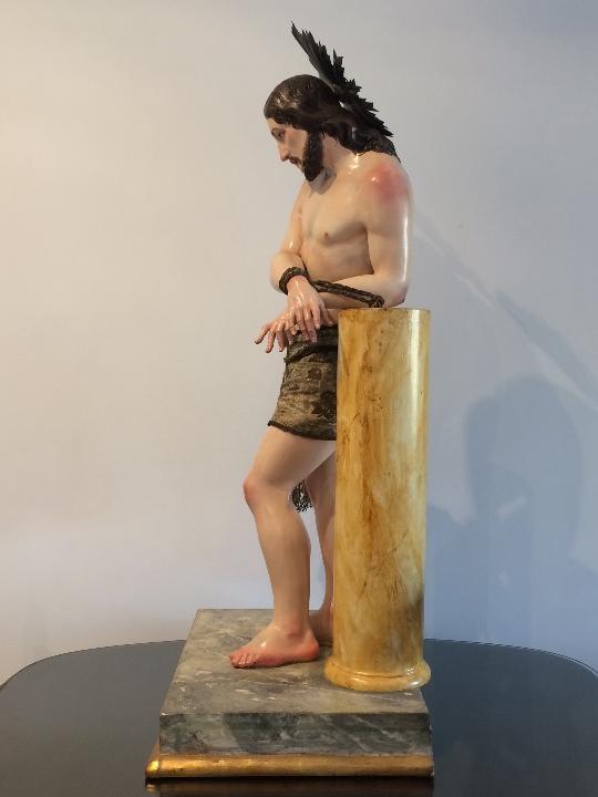 Arte: Cristo. Talla en madera del siglo XIX en urna - Foto 11 - 106009883