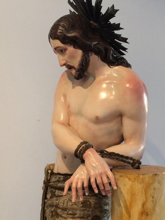 Arte: Cristo. Talla en madera del siglo XIX en urna - Foto 12 - 106009883