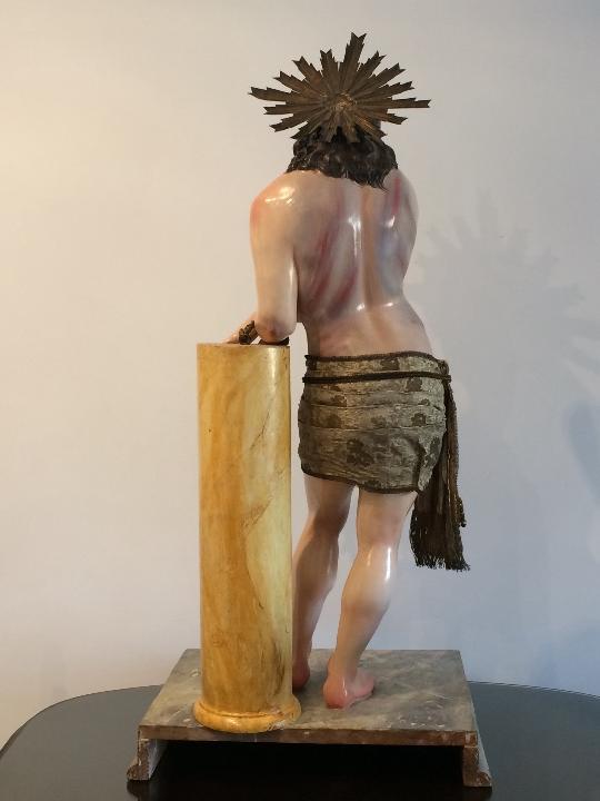 Arte: Cristo. Talla en madera del siglo XIX en urna - Foto 13 - 106009883