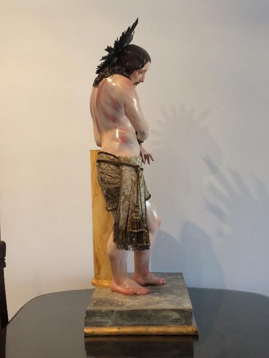 Arte: Cristo. Talla en madera del siglo XIX en urna - Foto 14 - 106009883