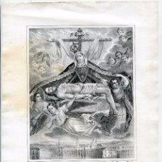 Arte: MÁLAGA, NUESTRA SEÑORA DE LAS ANGUSTIAS, POR FRANCISCO MITJANA, SIGLO XIX, CON PANORÁMICA. Lote 146664410