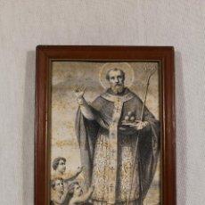 Arte: CUADRO LAMINA ANTIGUA DE SAINT NICOLAS. Lote 106549595