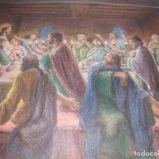 Arte: PRECIOSO CUADRO -DE LA CENA DE JESUS --JESUS Y SUS DICIPULOS --- PINTOR J,BARRERA ---MIDE 62X47-. Lote 106565111