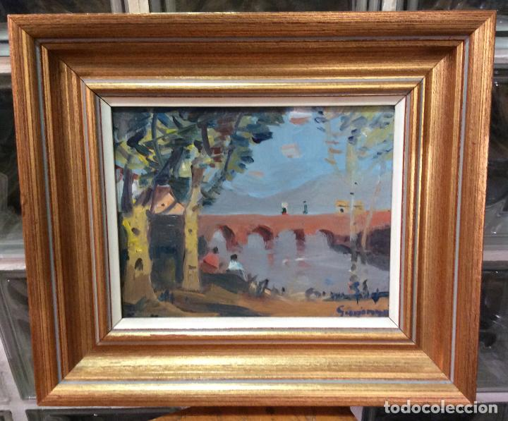 ÓLEO PERE GUSSINYE- PONT DE LES MORES (Arte - Arte Religioso - Pintura Religiosa - Oleo)