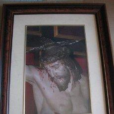 Arte: CRISTO CRUCIFICADO (FOTOGRAFIA ENMARCADA) 36X45 (LEER DESCRIPCION). Lote 106580959