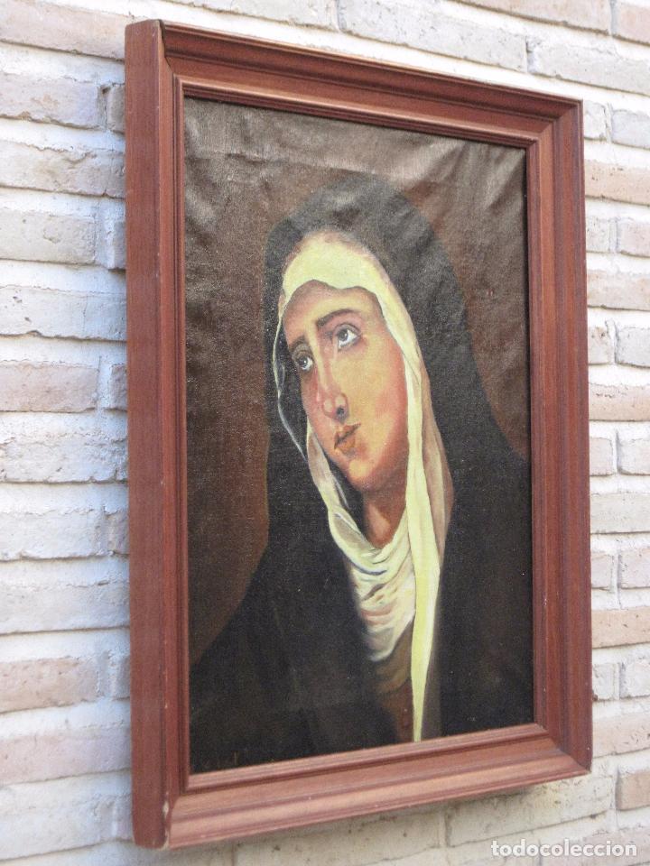 Arte: CUADRO DE NUESTRA SEÑORA DE LOS DOLORES, PINTADO AL OLEO SOBRE LIENZO. FIRMADA. - Foto 3 - 106582675