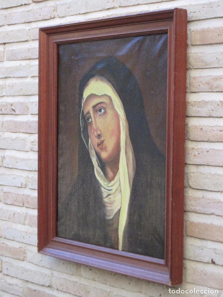 Arte: CUADRO DE NUESTRA SEÑORA DE LOS DOLORES, PINTADO AL OLEO SOBRE LIENZO. FIRMADA. - Foto 4 - 106582675