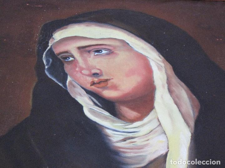 Arte: CUADRO DE NUESTRA SEÑORA DE LOS DOLORES, PINTADO AL OLEO SOBRE LIENZO. FIRMADA. - Foto 6 - 106582675