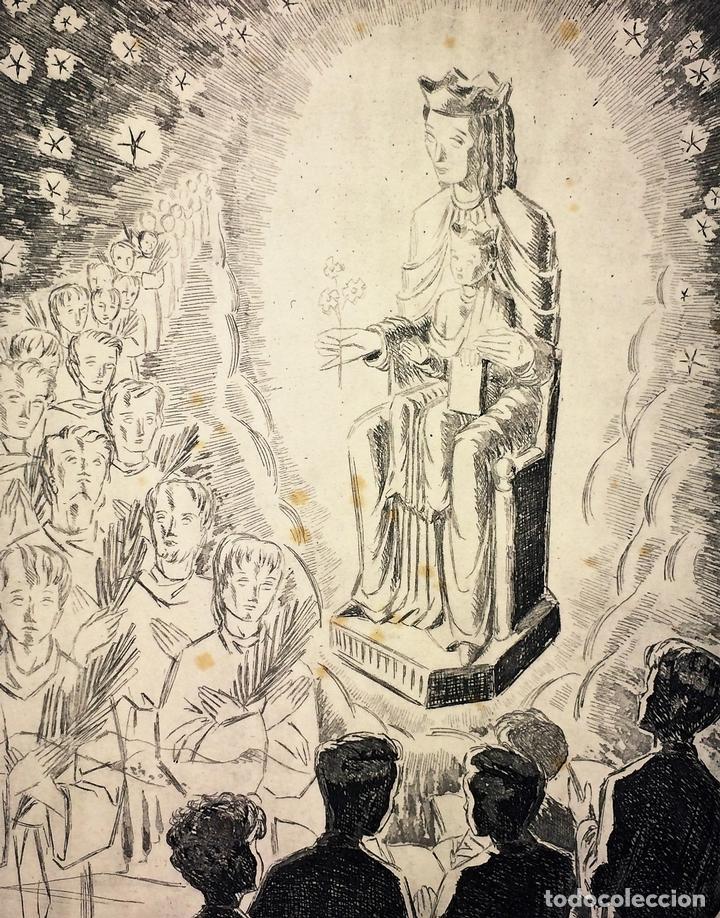 LOTE DE 6 GOIGS. CON LITOGRAFÍAS. SANTOS DIVERSOS. MONTANER Y SIMON. ESPAÑA. SIGLO XX (Arte - Arte Religioso - Grabados)