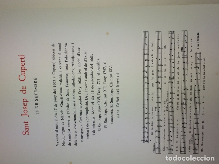 Arte: LOTE DE 6 GOIGS. CON LITOGRAFÍAS. SANTOS DIVERSOS. MONTANER Y SIMON. ESPAÑA. SIGLO XX - Foto 6 - 106698891
