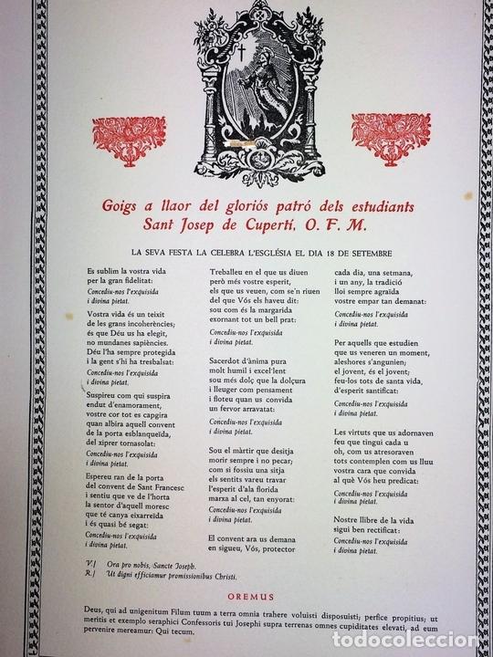 Arte: LOTE DE 6 GOIGS. CON LITOGRAFÍAS. SANTOS DIVERSOS. MONTANER Y SIMON. ESPAÑA. SIGLO XX - Foto 7 - 106698891