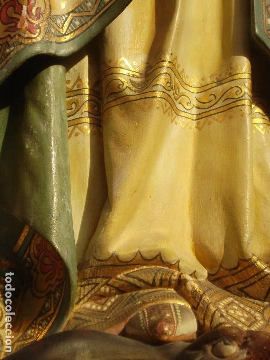 Arte: TOTA PULCHRA ES MARIA TALLA DE MADERA ESCUELA ESPAÑOLA SXIX DORADA AL ORO FINO - Foto 15 - 107198611