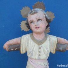Arte: NIÑO JESUS SOBRE COLUMNA FF. SIGLO XIX. Lote 107200171