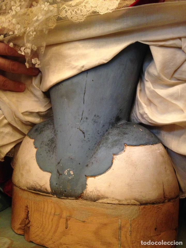 Arte: Virgen dolorosa del siglo XVIII, talla de madera, con urna-capilla - Foto 10 - 72739185