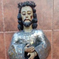 Arte: TALLA CRISTO DE MEDINACELI EN MADERA, PLATA Y TELA ENCOLADA. ESCUELA ESPAÑOLA S. XVIII. 81 CMS. Lote 107283299