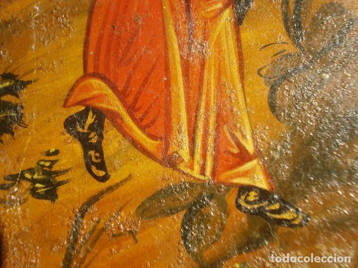 Arte: SAN MIGUEL ARCÁNGEL SOBRE TABLA S XIX - Foto 5 - 107314475
