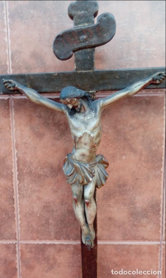 CRUCIFICADO ESCUELA BARROCA ANDALUZA , FINALES S. XVII. 84X43 CMS (Arte - Arte Religioso - Escultura)