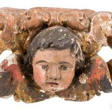 Arte: FRAGMENTO RETABLO ESC BARROCA ANDALUZA FINALES S. XVII. DIM.- 49X21X19 CMS.. Lote 107330975