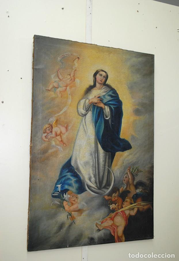 ÓLEO SOBRE LIENZO INMACULADA CONCEPCIÓN (Arte - Arte Religioso - Pintura Religiosa - Oleo)