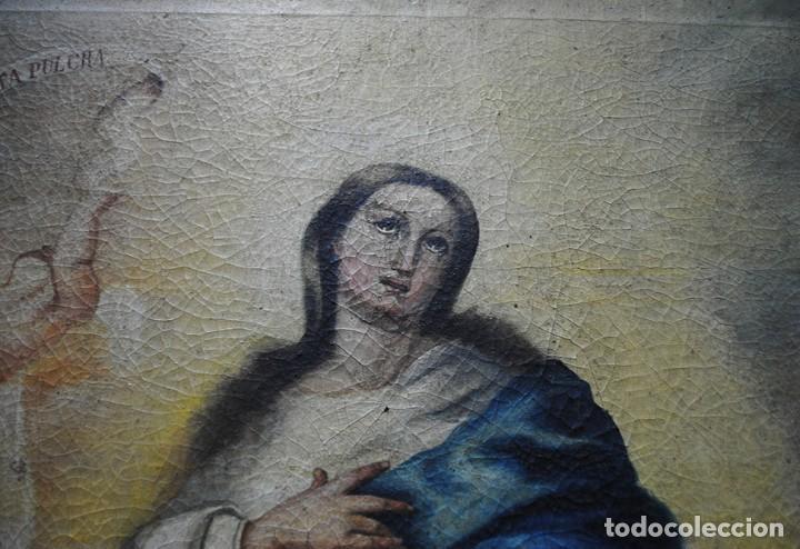 Arte: ÓLEO SOBRE LIENZO INMACULADA CONCEPCIÓN - Foto 3 - 107405143