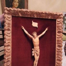 Arte: IMAGEN DE CRISTO CRUCIFICADO REALIZADA EN MARFIL , CLAVOS DE ORO. Lote 107519239
