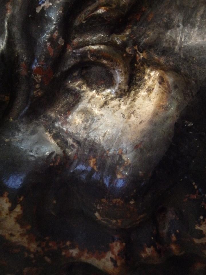 Arte: Angelito en madera tallada y plateada perteneciente al siglo XVIII. 20 cm de altura. - Foto 15 - 107536531