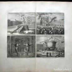 Arte: 1729 - BIBLIA - TEMPLO DE SALOMON - QUERUBINES - LUYCKEN - MORTIER - 58X52CM . Lote 107568415