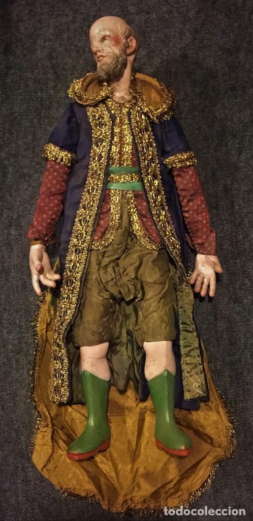 Arte: IMPRESIONANTE CONJUNTO DE REYES MAGOS DE BELEN O PRESEPE NAPOLITANO - Foto 6 - 107569595