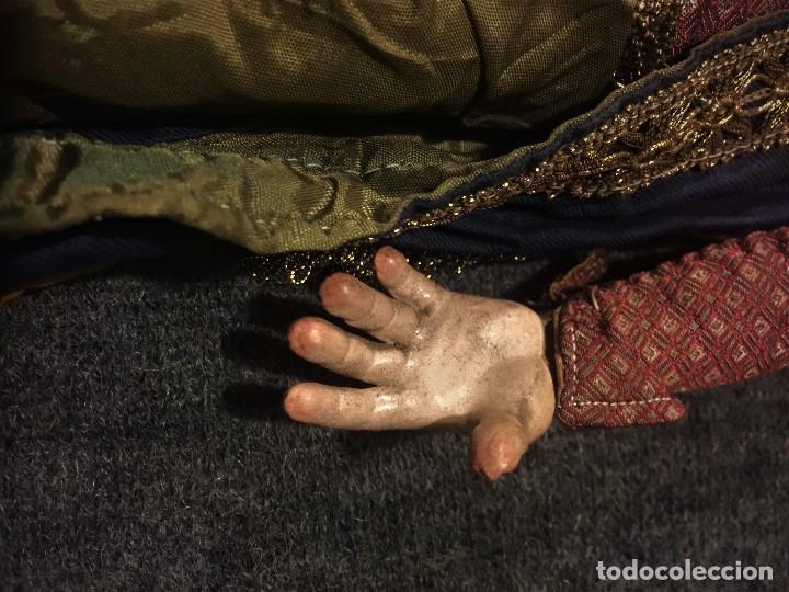 Arte: IMPRESIONANTE CONJUNTO DE REYES MAGOS DE BELEN O PRESEPE NAPOLITANO - Foto 8 - 107569595