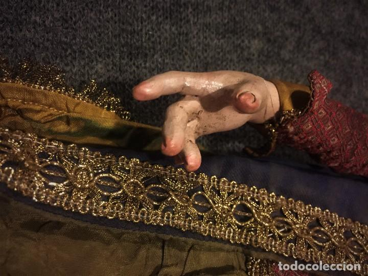 Arte: IMPRESIONANTE CONJUNTO DE REYES MAGOS DE BELEN O PRESEPE NAPOLITANO - Foto 9 - 107569595