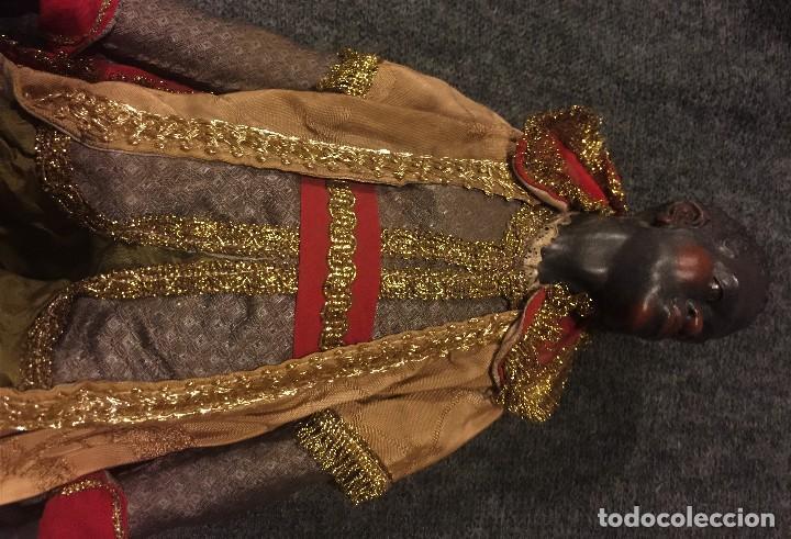 Arte: IMPRESIONANTE CONJUNTO DE REYES MAGOS DE BELEN O PRESEPE NAPOLITANO - Foto 25 - 107569595