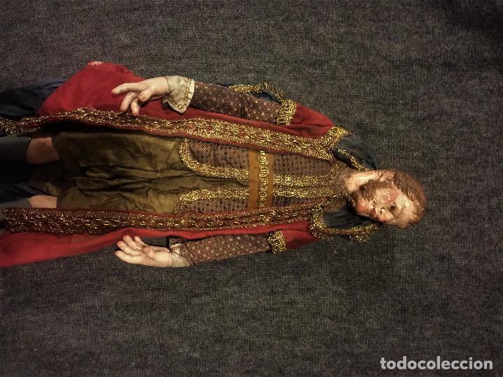 Arte: IMPRESIONANTE CONJUNTO DE REYES MAGOS DE BELEN O PRESEPE NAPOLITANO - Foto 35 - 107569595