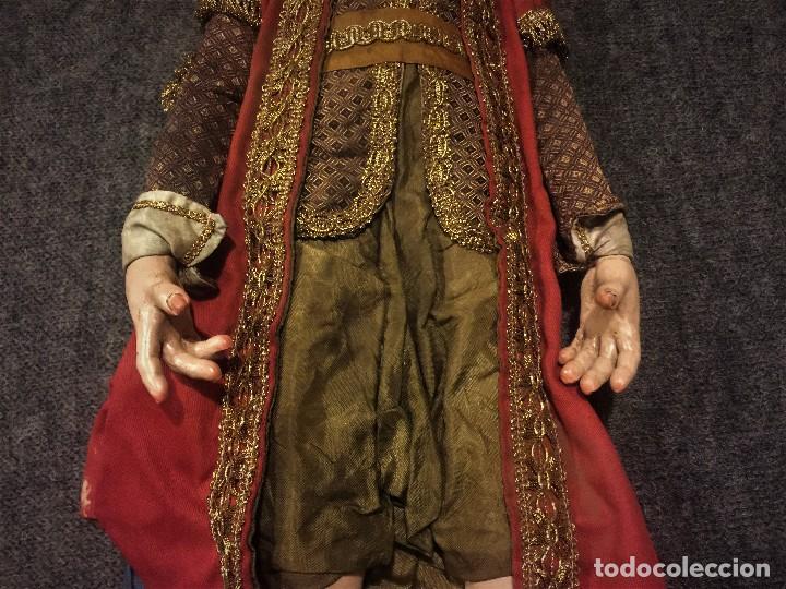 Arte: IMPRESIONANTE CONJUNTO DE REYES MAGOS DE BELEN O PRESEPE NAPOLITANO - Foto 42 - 107569595