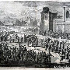 Arte: 1729 - BIBLIA - DAVID Y EL ARCA - LUYCKEN - MORTIER - 58X52CM . Lote 107569647