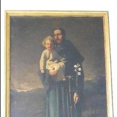 Arte: SAN ANTONIO DE PADUA. OLEO SOBRE LIENZO 75 X 120 CM,FIRMADO.. Lote 107654327