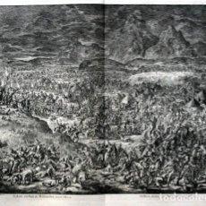 Arte: 1729 - BIBLIA - GEDEON DERROTA A LOS MADIANITAS - 58X52CM - GRAN FORMATO - J.COVENS & C.MORTIER -. Lote 107744655