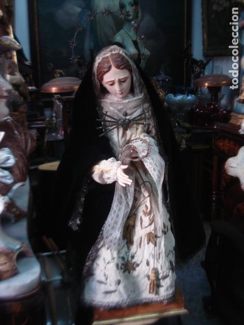 EXTRAORDINARIA DOLOROSA TALLA CAP I POTA SXIX (Arte - Arte Religioso - Escultura)