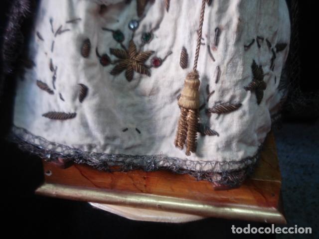 Arte: Extraordinaria Dolorosa talla cap i pota sXIX - Foto 7 - 107770611