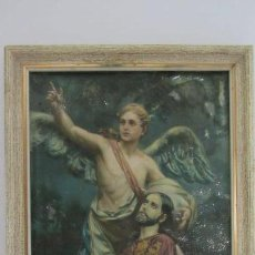 Arte: GRABADO RELIGIOSO SOBRE LAMINA METALICA. Lote 263796750
