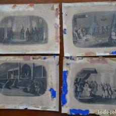 Arte: GRABADOS, 18,5 X 13,5 APROX, 4, EMBAJADORES DE SIAM Y JAPONESES, JESUITAS, CULTO. Lote 107841131