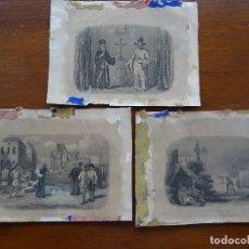 Arte: GRABADOS, 18,5 X 13,5 APROX, 3, MATÍAS DE LA PAZ, JUAN DE LOS BARRIOS, RICCI PAUL. Lote 107842163