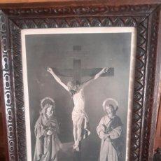 Arte: A . LITOGRAFIA ENMARCADA EN MARCO ANTIGUO DE EL CRISTO DE LA CONGREGACIÓN DE LA BUENA MUERTE. Lote 107897911