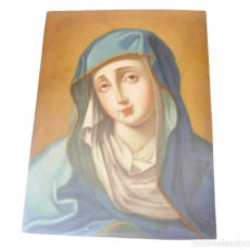 Arte: CUADRO FIGURA FEMININA SANTA BRONCE SIGLO XIX. Lote 107900107