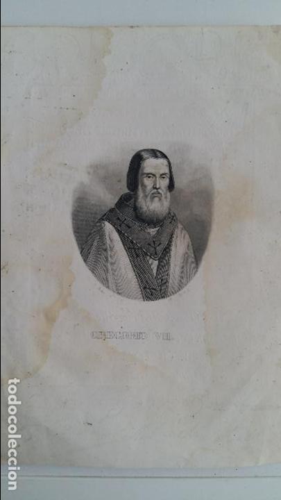 GRABADO DEL PAPA GREGORIO VII. (Arte - Arte Religioso - Grabados)