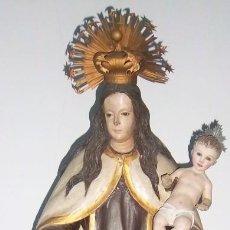 Arte: VIRGEN DEL CARMEN Y NIÑO JESÚS. SIGLO XVIII.. Lote 108235391