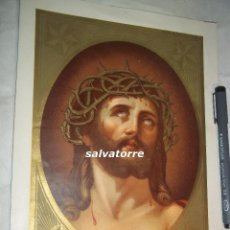 Arte: ECCE HOMO.GRABADO LITOGRAFICO, PRINCIPIOS DEL XX. PRECIOSOS DORADOS.. Lote 108263787