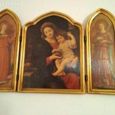 Arte: TRIPTICO VIRGEN Y ANGELES. Lote 108365871